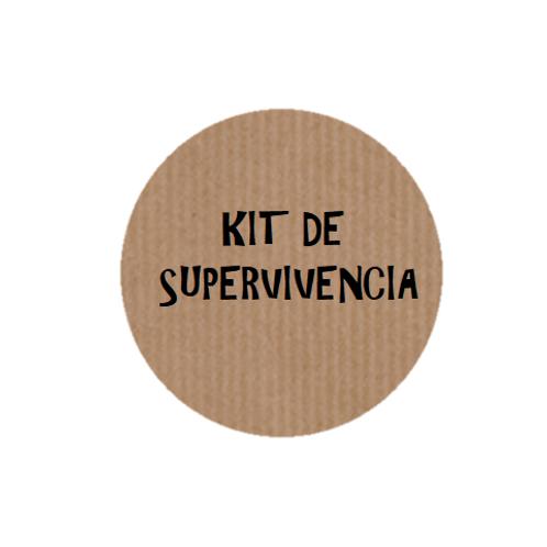 "100 Etiquetas adhesivas ""Kit de Supervivencia"""