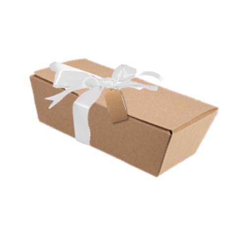 Caja para regalo, con cinta y etiqueta 25 x 12,5 x 6 cm