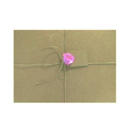 24 Sobres kraft tamaño 18,5 x 13,3 cm con cordón , flor y etiqueta cartón kraft
