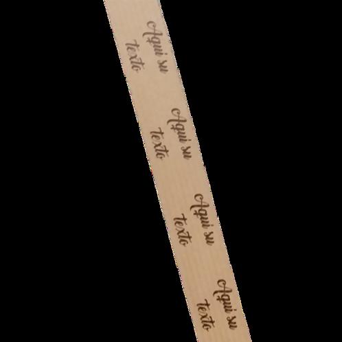 Cinta adhesiva Kraft impresa texto personalizado 18 mm