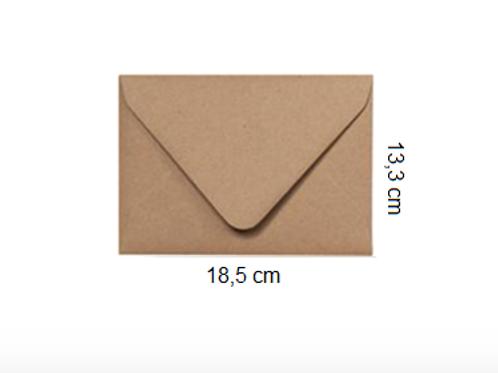 Sobre Kraft 18,5 x 13,3 cm