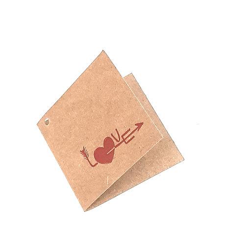 Etiqueta de cartón impresa LOVE