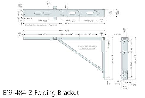 E19-484-Z Eureka MFG Wall Mounted Folding Brackets (Sold in Pairs)