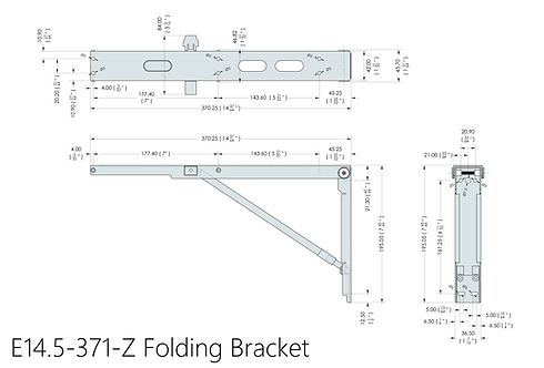 E14.5-371-Z Eureka MFG Wall Mounted Folding Brackets (Sold in Pairs)