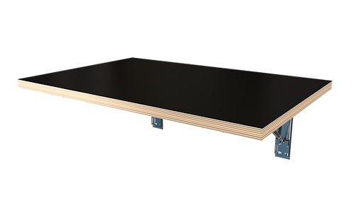 Wall Mounted Folding Decorply Table - Black Top (RAL 9005)