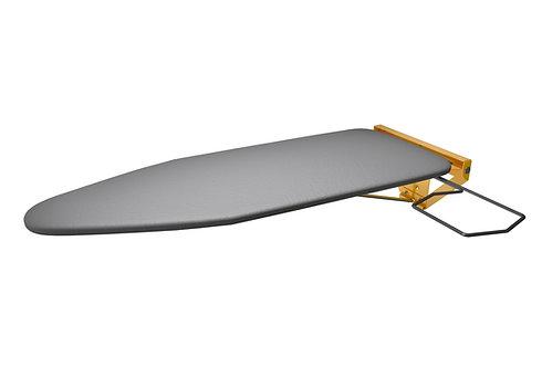 Planche à repasser murale compacte avec plaque de montage jaune (RAL 1023)