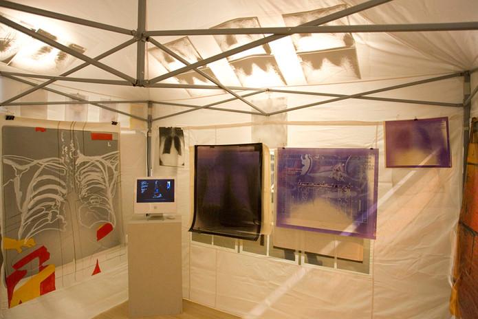 Tent Installation Jamestown Weeks Gallery