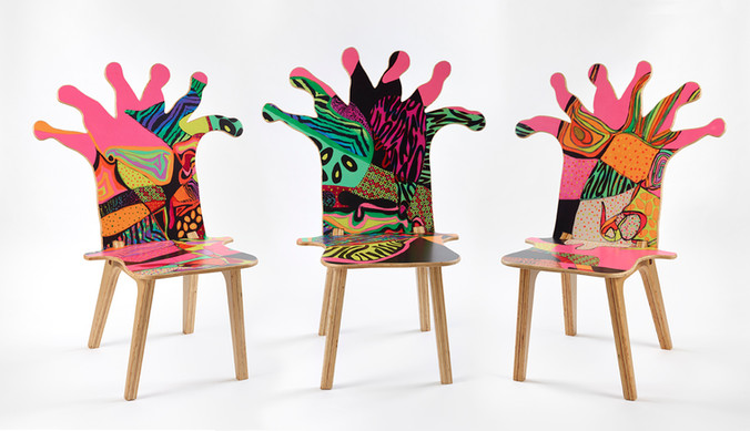 3 Coral Polyp Chairs