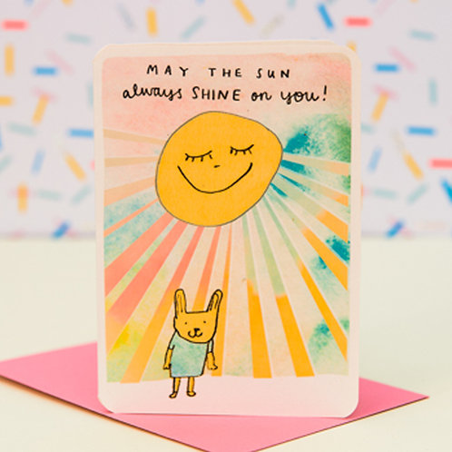MAY THE SUN ALWAYS SHINE ON YOU CARD x 6