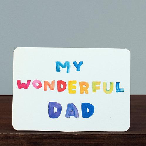MY WONDERFUL DAD CARD x 6