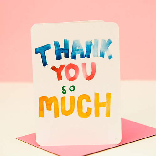 THANK YOU SO MUCH CARD x 6