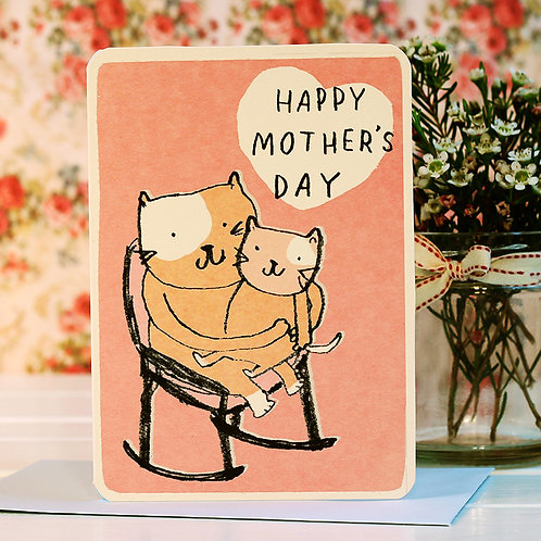MOTHER'S DAY CATS CARD x 6