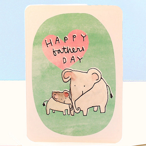 FATHER'S DAY ELEPHANTS CARD x 6