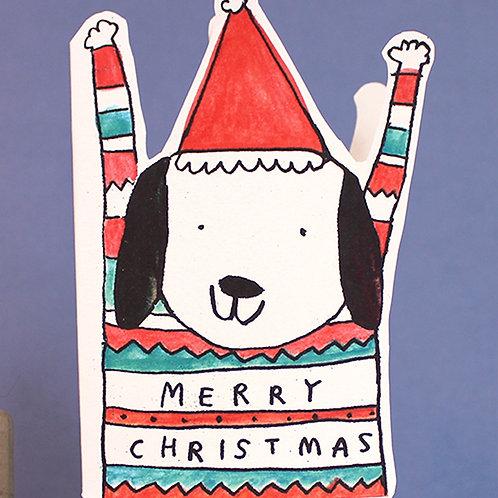 HOORAY CHRISTMAS JUMPER DOG x 6