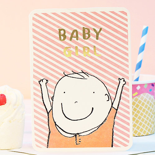BABY GIRL GOLD CARD