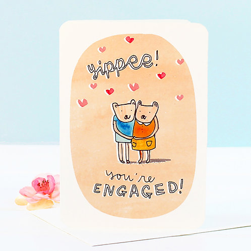 YIPPEE! ENGAGEMENT CARD