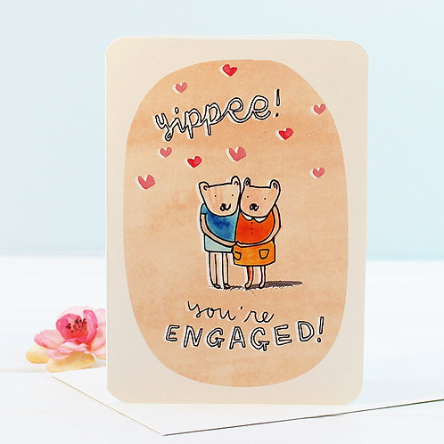 YIPPEE! ENGAGEMENT CARD x 6