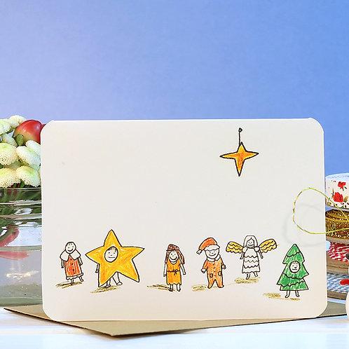 NATIVITY CHRISTMAS CARD  x 6