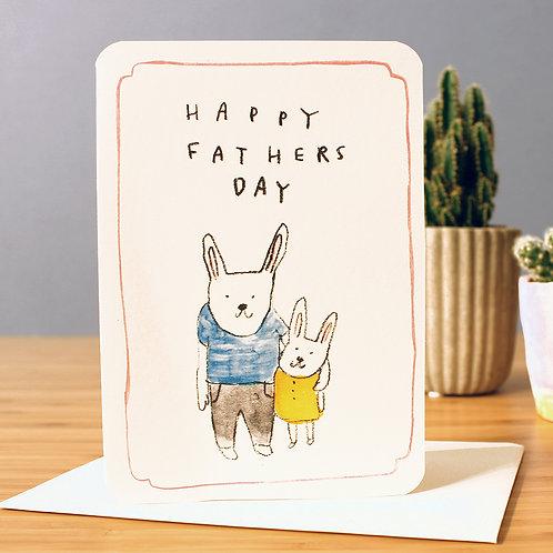 FATHER'S DAY RABBITS CARD