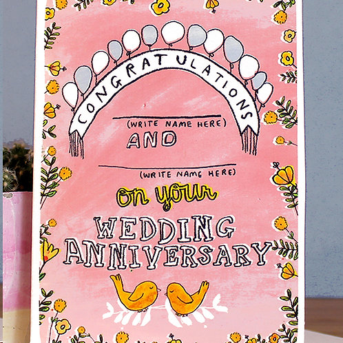 WEDDING ANNIVERSARY CARD (INSERT YOUR OWN NAMES)
