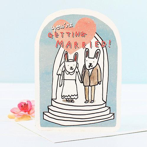 WEDDING BUNNIES CARD