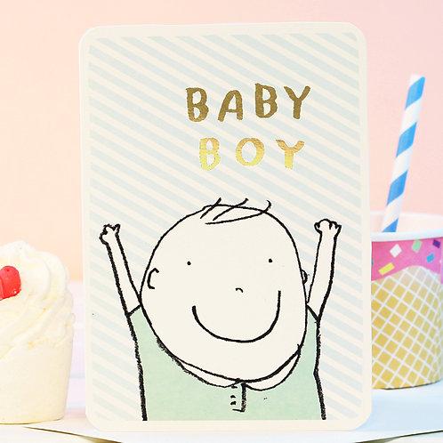 BABY BOY GOLD CARD x 6