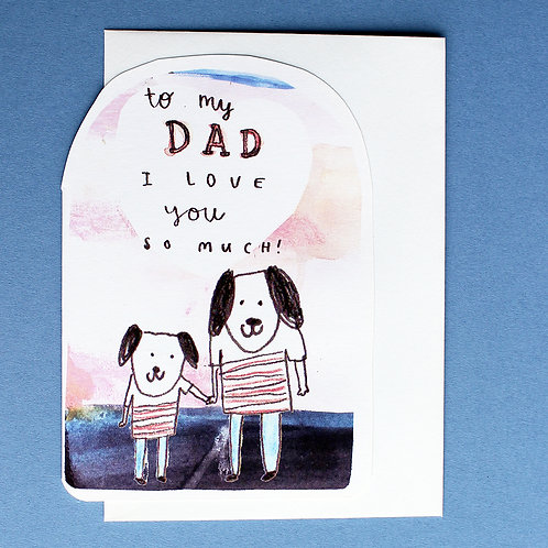 LOVE YOU DAD CARD x6