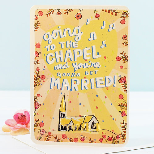 WEDDING CARD - GOING TO THE CHAPEL x 6