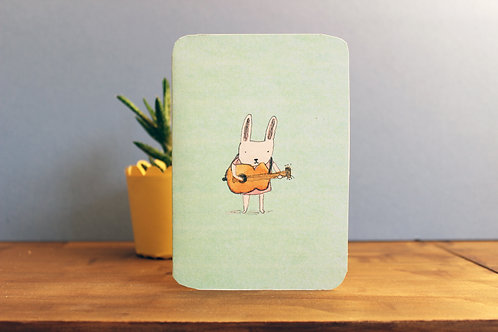 BLANK BUNNY GUITAR CARD