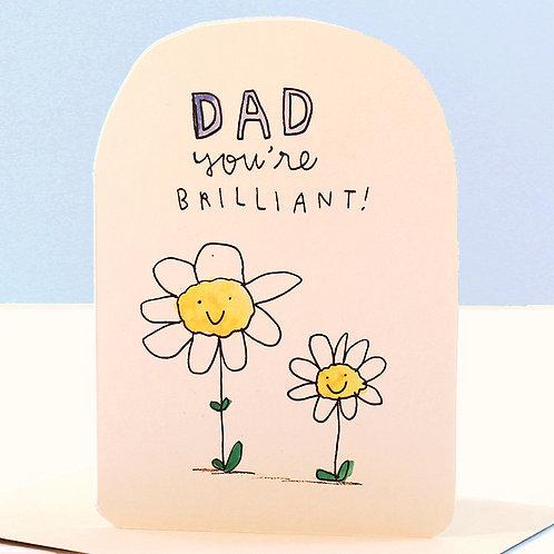 BRILLIANT DAD CARD x 6