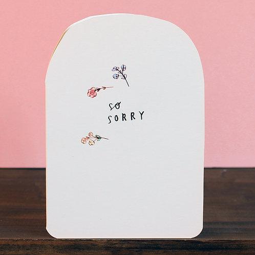 SO SORRY CARD x 6