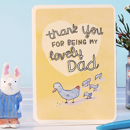 LOVELY DAD CARD x 6