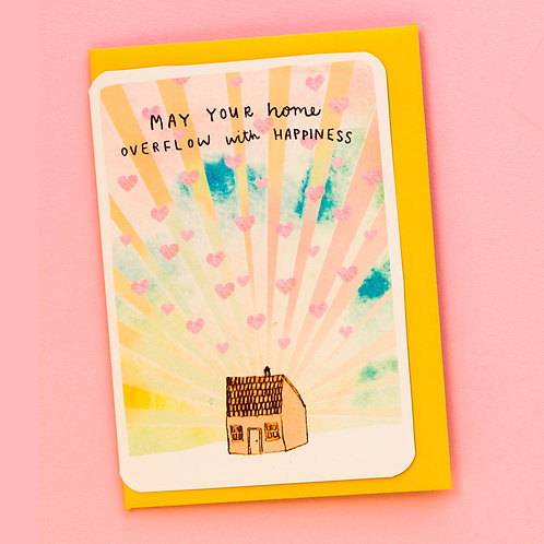 MAY YOUR HOME OVERFLOW WITH HAPPINESS CARD x 6