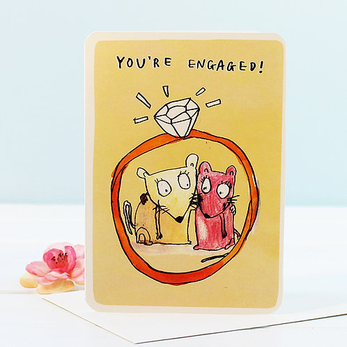 YOU'RE ENGAGED! MICE CARD