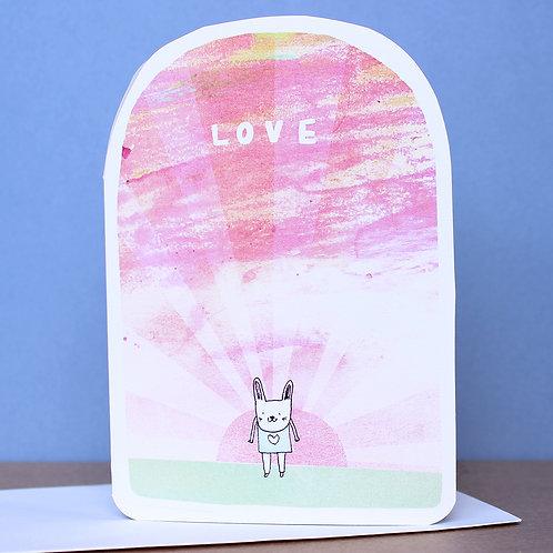 BUNNY LOVE CARD x6