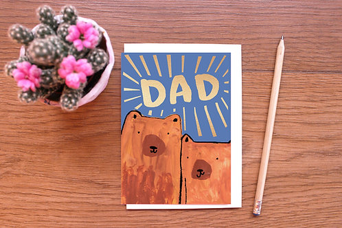 DAD! GOLD FOILED BEARS CARD