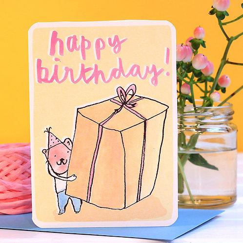 HAPPY BIRTHDAY BIG PRESENT CARD