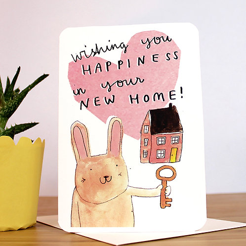 NEW HOME BUNNY CARD