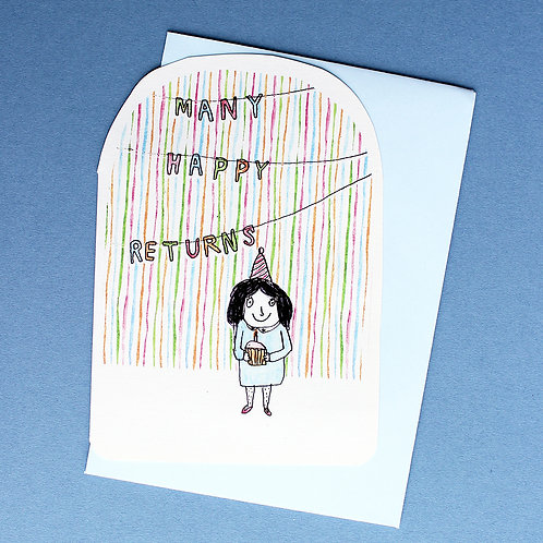 MANY HAPPY RETURNS BIRTHDAY CARD