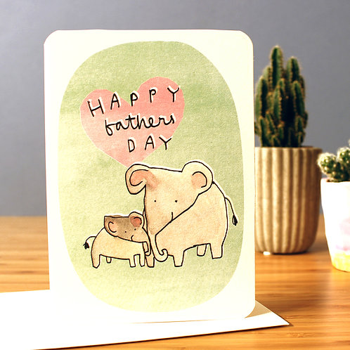FATHER'S DAY ELEPHANTS CARD