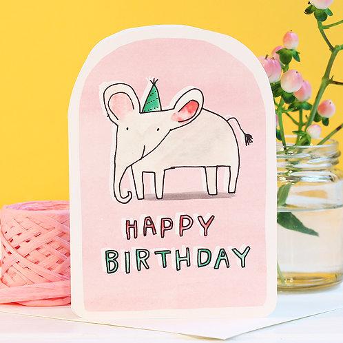 BIRTHDAY ELEPHANT CARD x 6