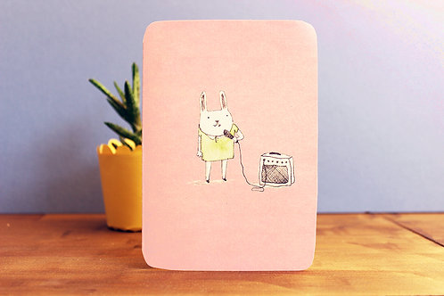 BLANK BUNNY SINGING CARD