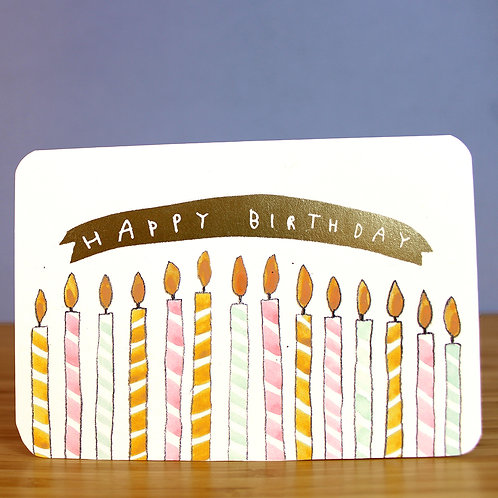 GOLD BIRTHDAY CANDLES CARD