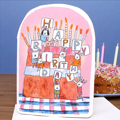 BIRTHDAY CAKE CLIMBERS CARD
