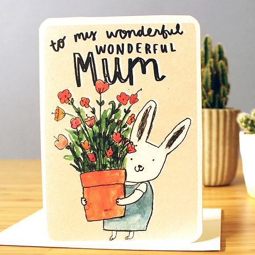 WONDERFUL MUM FLOWERS CARD