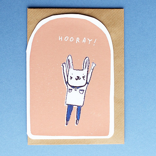 HOORAY BUNNY CARD