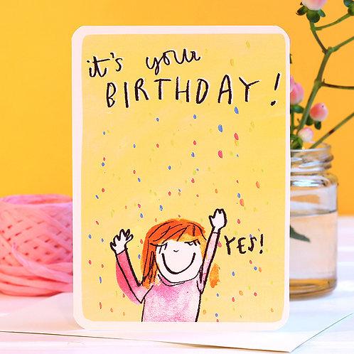 YES! HAPPY BIRTHDAY CARD
