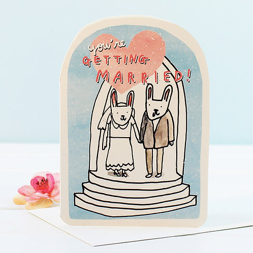 WEDDING BUNNIES CARD x 6