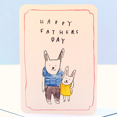 FATHER'S DAY RABBITS CARD x 6