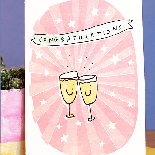 CONGRATULATIONS CHAMPAGNE CARD